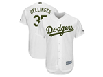 Los Angeles Dodgers #35 Cody Bellinger White 2018 Memorial Day Cool Base Jersey