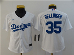Los Angeles Dodgers #35 Cody Bellinger Youth White 2020 Cool Base Jersey