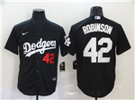 Los Angeles Dodgers #41 Jackie Robinson 2020 Black Turn Back The Clock Jersey