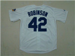 Brooklyn Dodgers #42 Jackie Robinson Throwback White Jersey