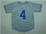 Brooklyn Dodgers #4 Duke Snider 1945 Throwback Grey Jersey