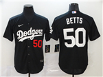 Los Angeles Dodgers #50 Mookie Betts 2020 Black Turn Back The Clock Jersey