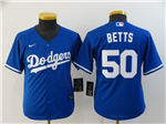 Los Angeles Dodgers #50 Mookie Betts Youth Royal Blue 2020 Cool Base Jersey