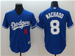Los Angeles Dodgers #8 Manny Machado Blue Cool Base Jersey