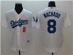 Los Angeles Dodgers #8 Manny Machado White Cool Base Jersey