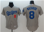 Los Angeles Dodgers #8 Manny Machado Alternate Road Grey Flex Base Jersey