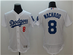 Los Angeles Dodgers #8 Manny Machado White Flex Base Jersey