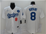 Los Angeles Dodgers #8 Kobe Bryant White 2020 KB Cool Base Jersey