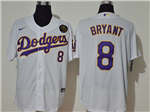 Los Angeles Dodgers #8 Kobe Bryant White/Purple 2020 KB Cool Base Jersey