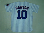 Montreal Expos #10 Andre Dawson 1982 Throwback White Pinstripe Jersey