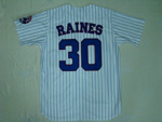 Montreal Expos #30 Tim Raines 1982 Throwback White Pinstripe Jersey