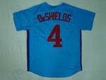 Montreal Expos #4 DeShielos Blue Throwback Jersey