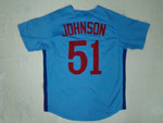 Montreal Expos #51 Randy Johnson Blue Throwback Jersey