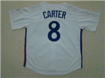 Montreal Expos #8 Gary Carter 1982 Throwback White Jersey