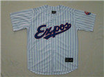 Montreal Expos Throwback White Pinstripe Jersey