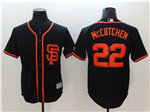 San Francisco Giants #22 Andrew McCutchen Black Cool Base Jersey