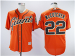 San Francisco Giants #22 Andrew McCutchen Orange Cool Base Jersey