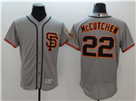 San Francisco Giants #22 Andrew McCutchen Alternate Road Grey Flex Base Jersey