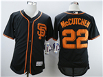 San Francisco Giants #22 Andrew McCutchen Black Flex Base Jersey