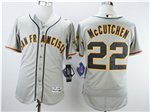San Francisco Giants #22 Andrew McCutchen Grey Flex Base Jersey