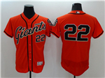 San Francisco Giants #22 Will Clark Orange Flex Base Jersey