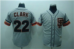 San Francisco Giants #22 Will Clark Throwback Gray Jersey