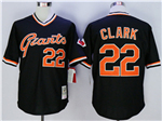 San Francisco Giants #22 Will Clark Throwback Black Jersey