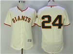 San Francisco Giants #24 Willie Mays Cream Flex Base Jersey