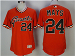 San Francisco Giants #24 Willie Mays Orange 1978 Turn Back The Clock Flex Base Jersey