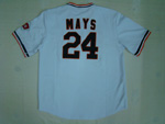 San Francisco Giants #24 Willie Mays 1951 Throwback White Jersey