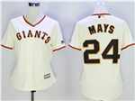 San Francisco Giants #24 Willie Mays Women's Cream Cool Base Jersey