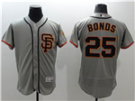 San Francisco Giants #25 Barry Bonds Alternate Road Grey Flex Base Jersey
