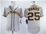 San Francisco Giants #25 Barry Bonds Grey Flex Base Jersey