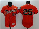San Francisco Giants #25 Barry Bonds Orange Flex Base Jersey