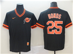 San Francisco Giants #25 Barry Bonds Throwback Black Jersey