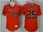 San Francisco Giants #25 Barry Bonds Orange 1978 Turn Back The Clock Flex Base Jersey