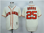 San Francisco Giants #25 Barry Bonds Throwback Cream Jersey