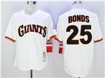 San Francisco Giants #25 Barry Bonds Throwback White Jersey
