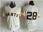 San Francisco Giants #28 Buster Posey Cream Flex Base Jersey