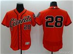 San Francisco Giants #28 Buster Posey Orange Flex Base Jersey