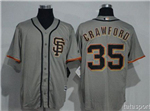 San Francisco Giants #35 Brandon Crawford Alternate Road Gray Cool Base Jersey