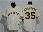 San Francisco Giants #35 Brandon Crawford Cream Cool Base Jersey
