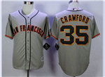 San Francisco Giants #35 Brandon Crawford Grey Cool Base Jersey