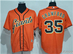 San Francisco Giants #35 Brandon Crawford Orange Cool Base Jersey