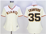 San Francisco Giants #35 Brandon Crawford Women's Cream Cool Base Jersey