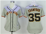 San Francisco Giants #35 Brandon Crawford Women's Grey Cool Base Jersey