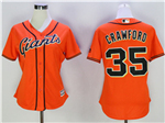 San Francisco Giants #35 Brandon Crawford Women's Orange Cool Base Jersey