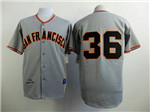San Francisco Giants #36 Gaylord Perry Throwback Gray Jersey