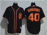 San Francisco Giants #40 Madison Bumgarner Black Cool Base Jersey
