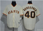 San Francisco Giants #40 Madison Bumgarner Cream Cool Base Jersey